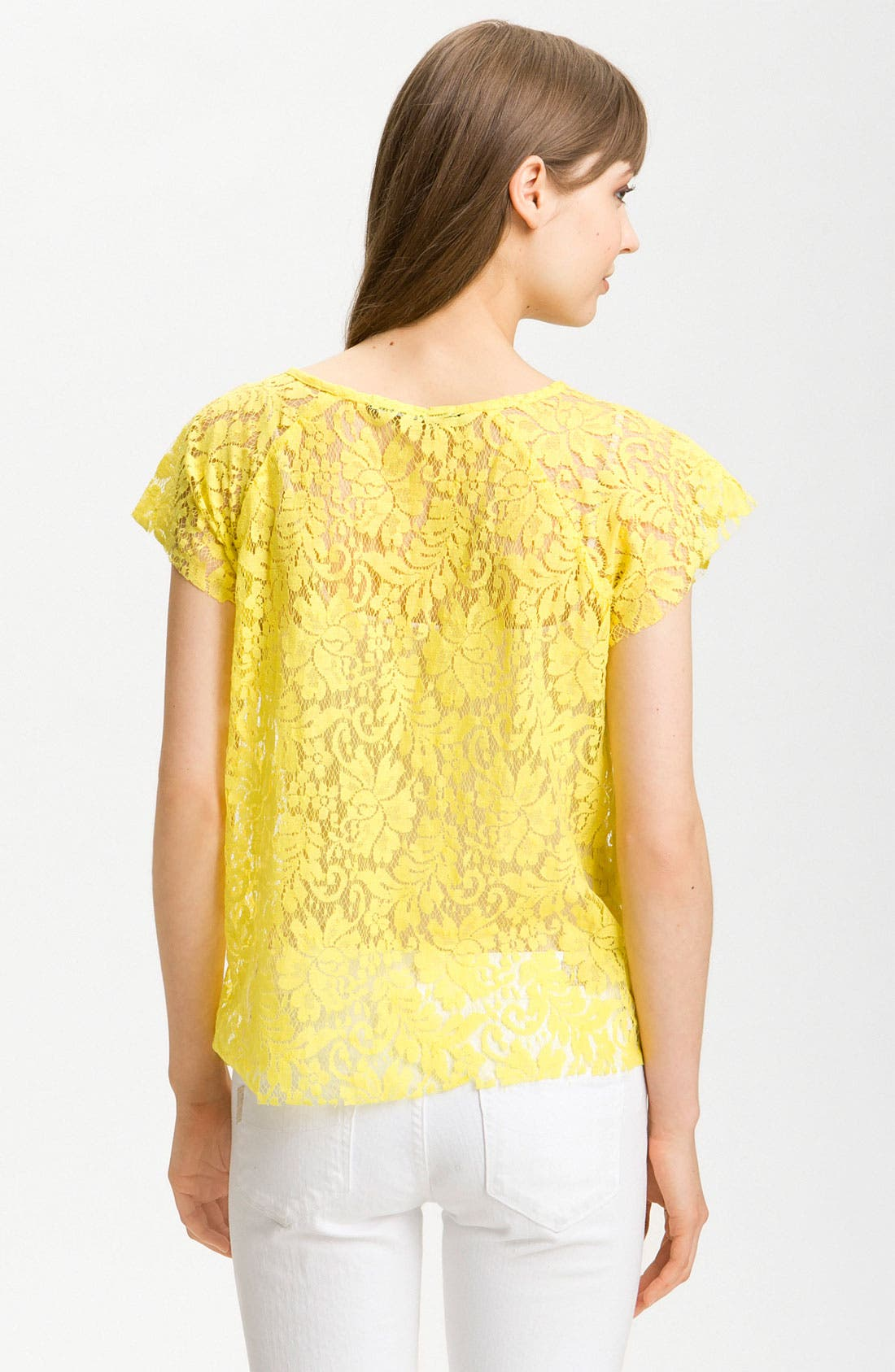 Alternate Image 2  - Patterson J. Kincaid Relaxed Lace Tee
