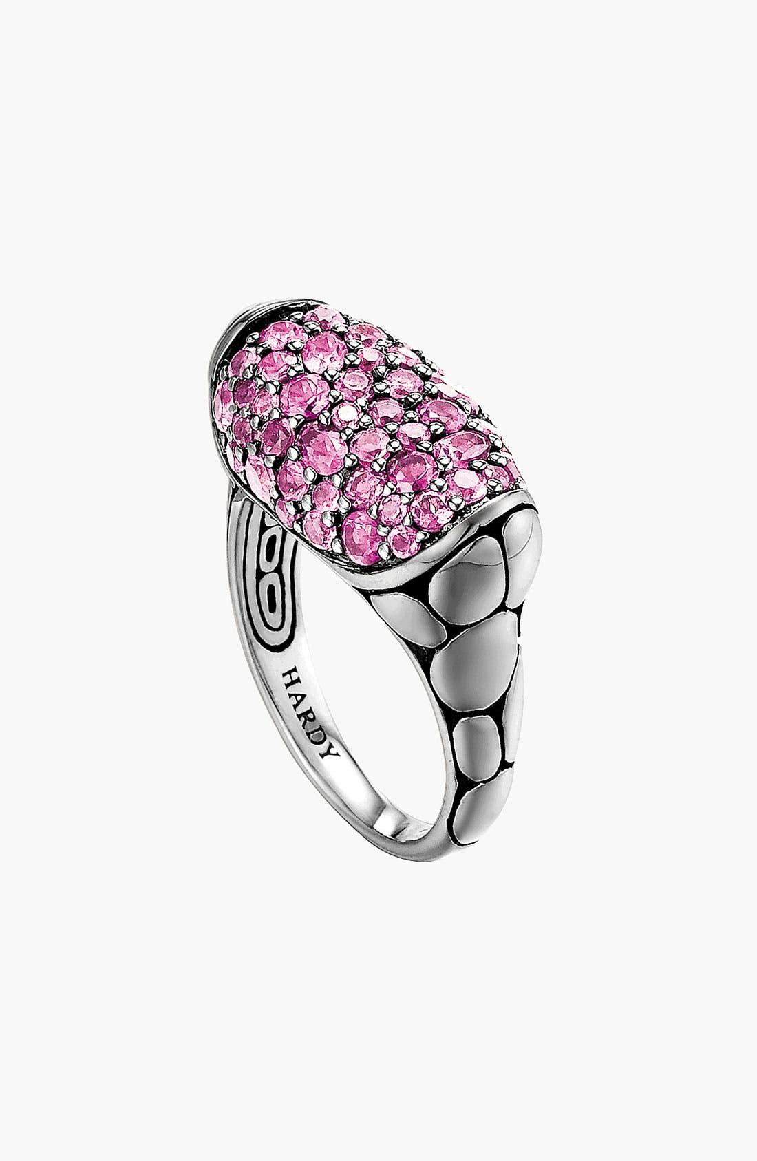 Alternate Image 1 Selected - John Hardy 'Kali Silver Lava' Small Oval Ring