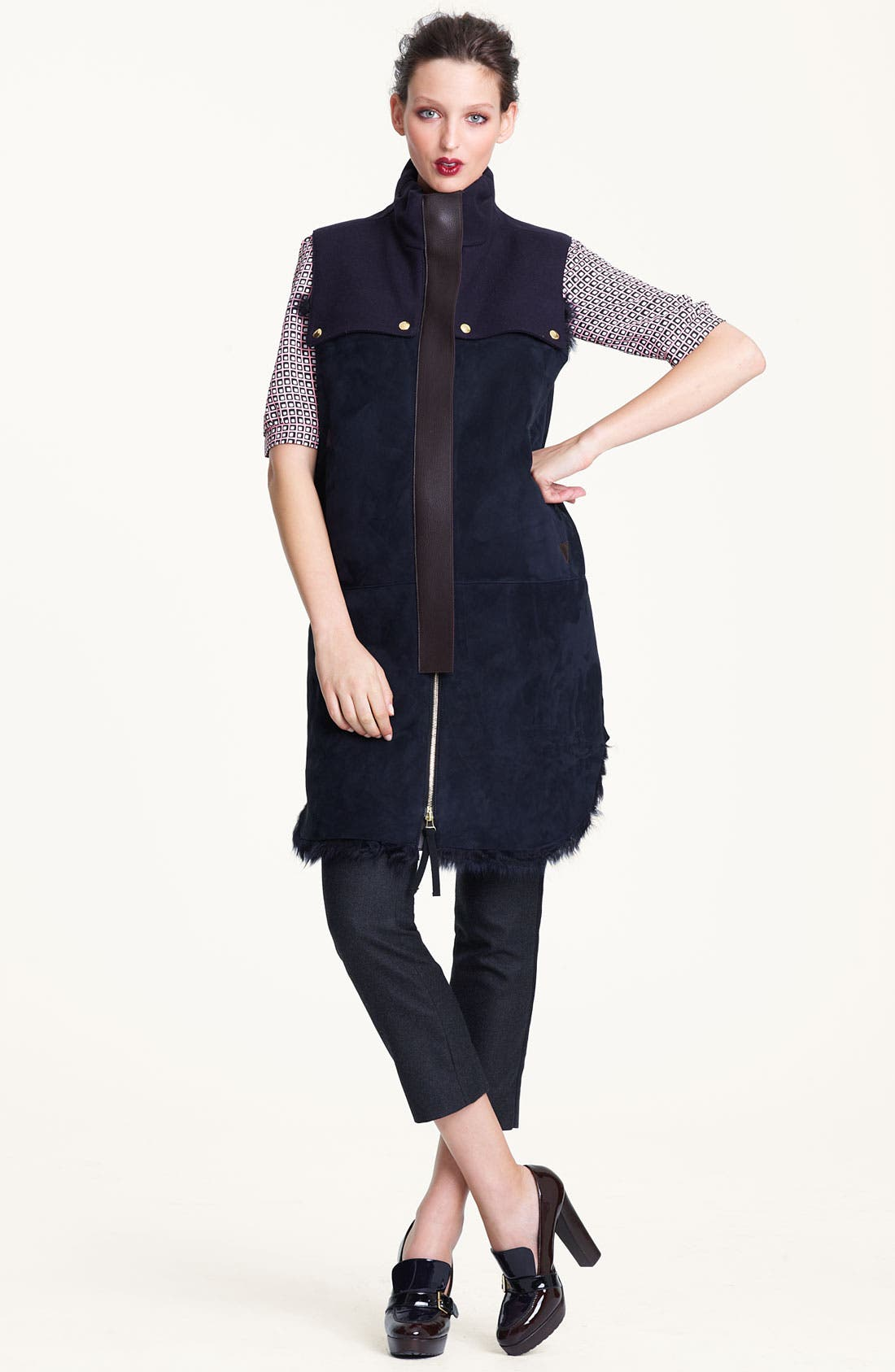Alternate Image 5  - Marni Edition Crop Straight Leg Flannel Trousers