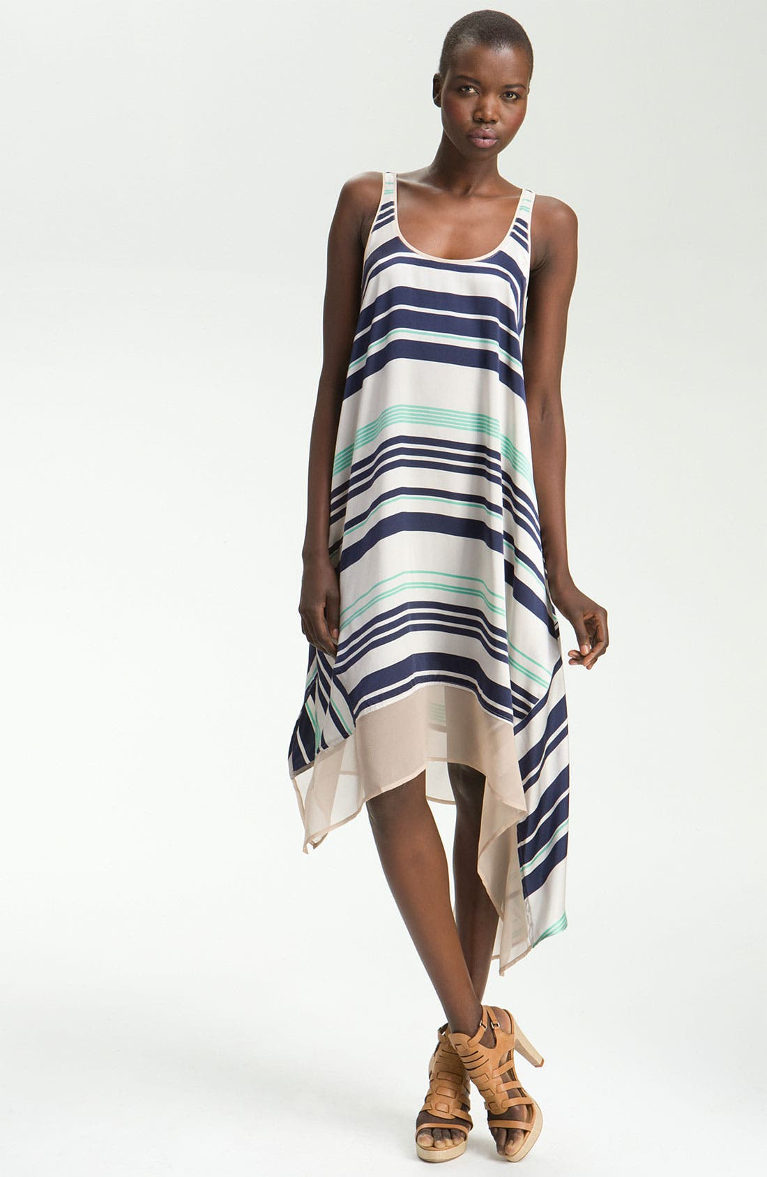 Alternate Image 1 Selected - Elizabeth and James 'Adrienne' Striped Silk Dress
