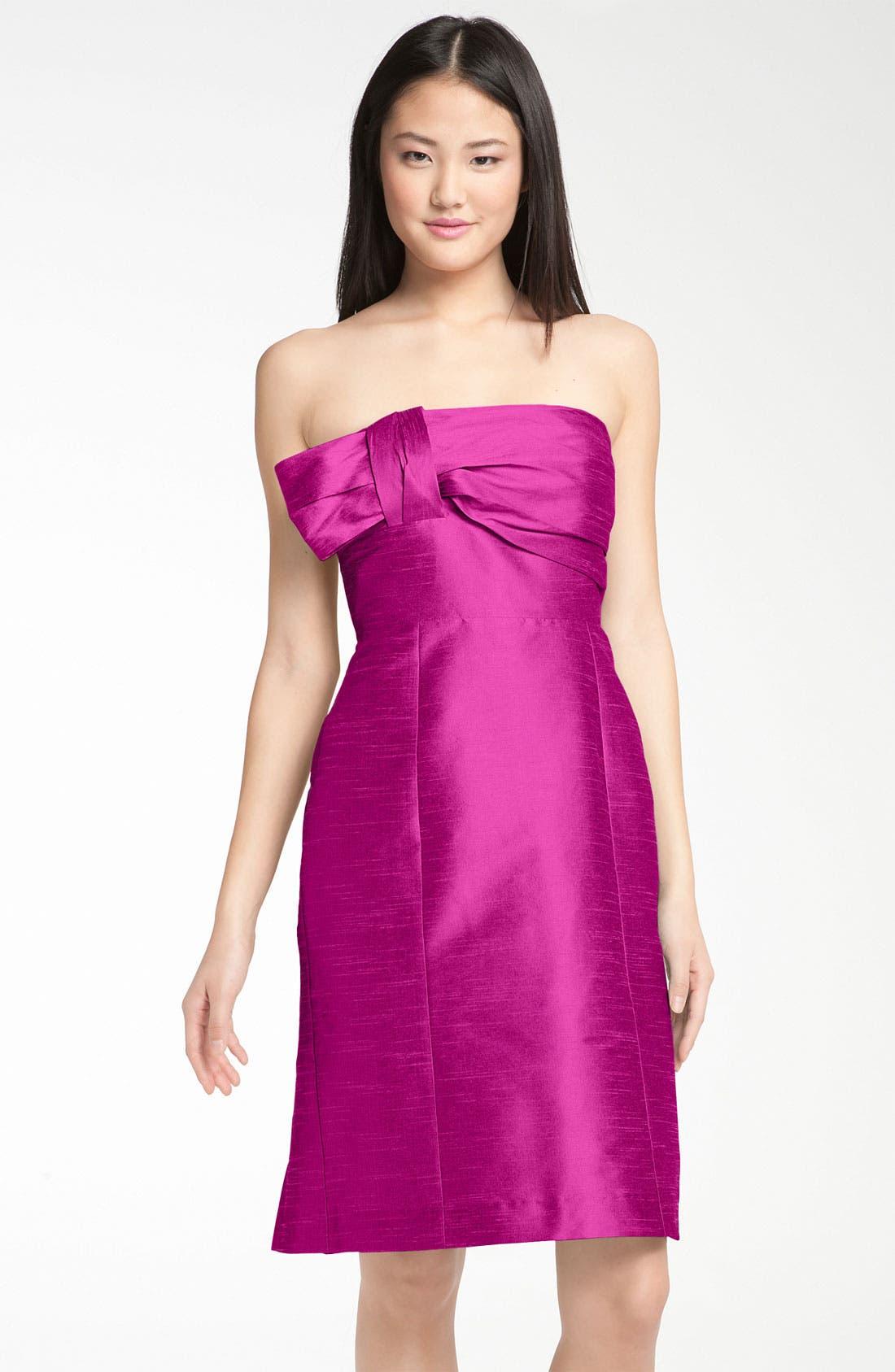 Alternate Image 2  - Anna Elyse Bridesmaids Convertible Shantung Dress