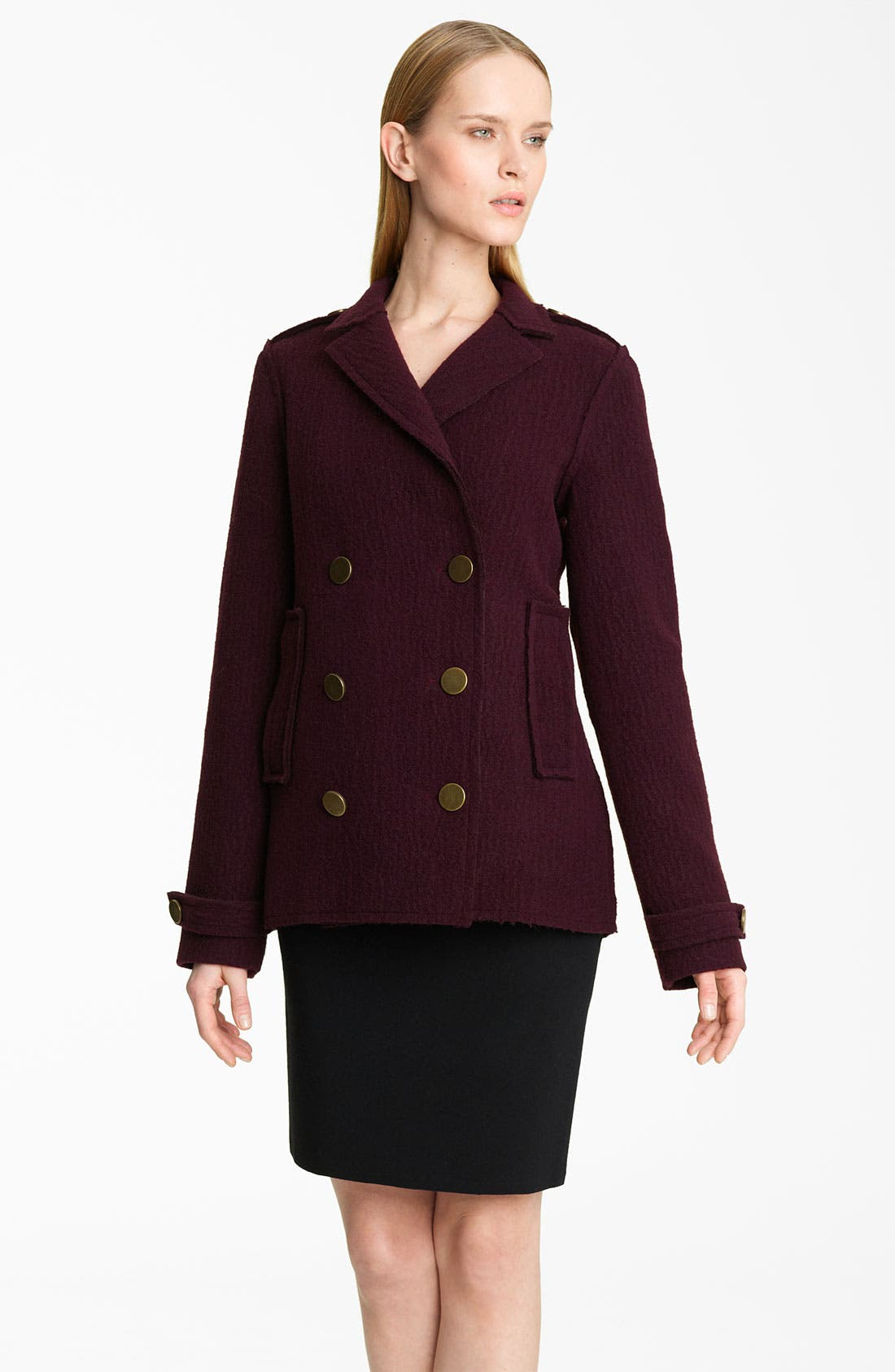 Alternate Image 1 Selected - Lanvin Double Breasted Peacoat
