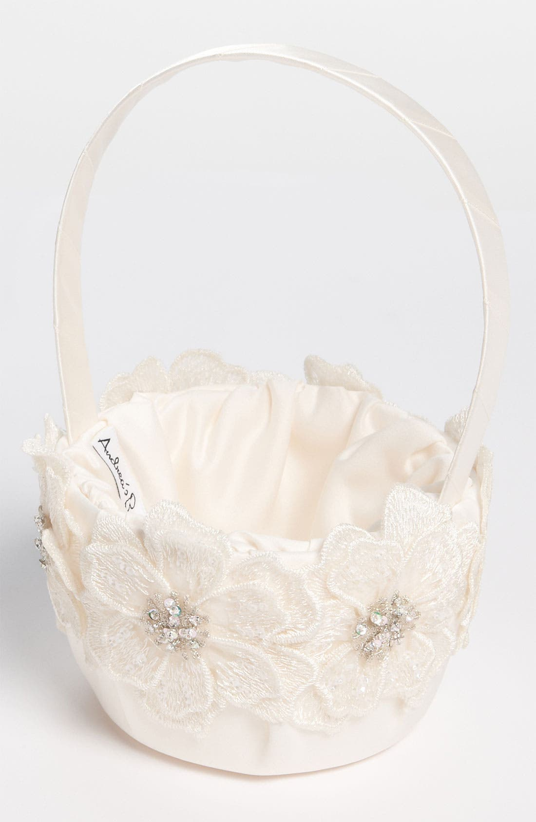 Main Image - Andrea's Beau Gossamer Flower Girl Basket