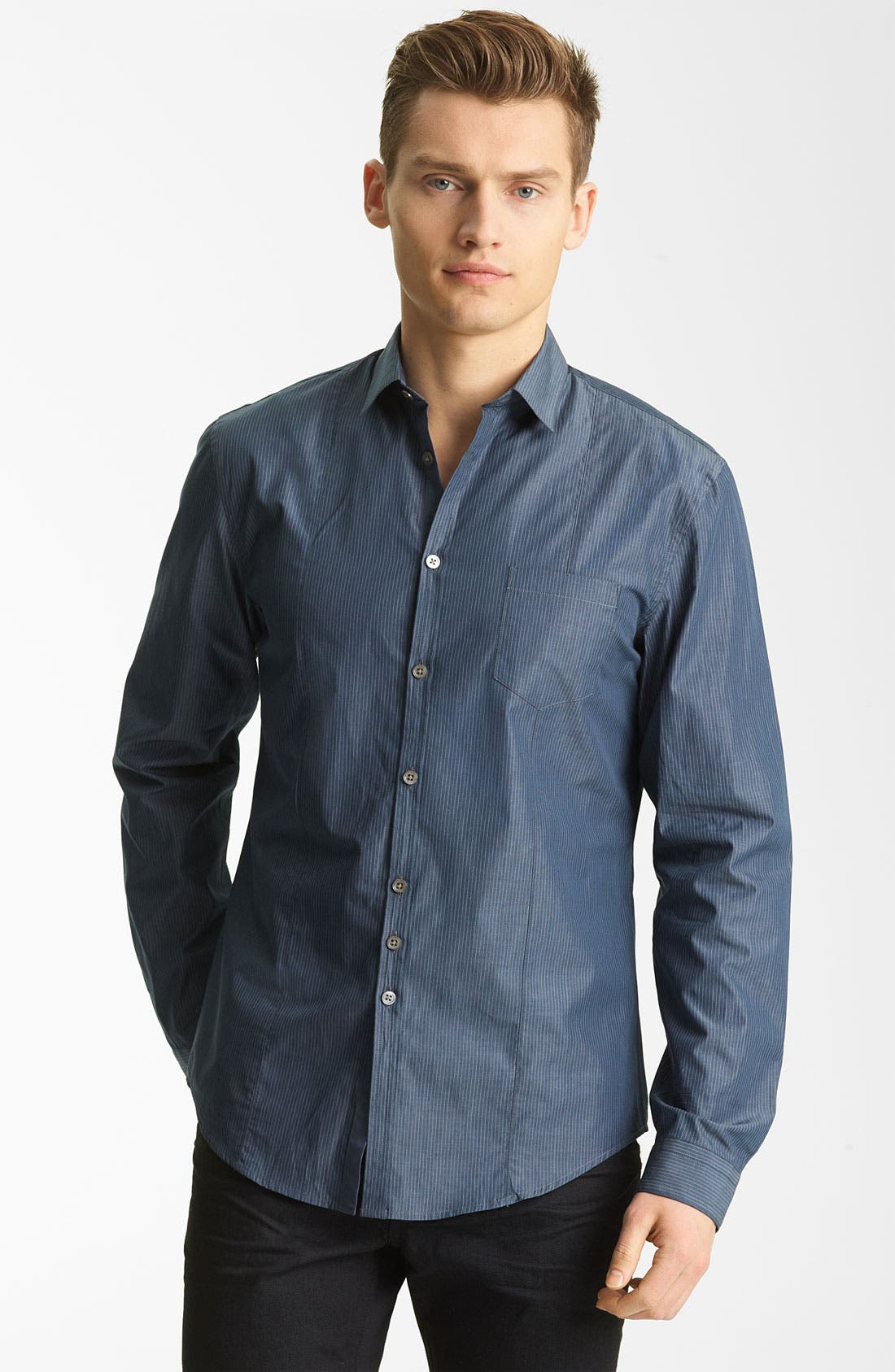 Alternate Image 1 Selected - John Varvatos Collection Stripe Woven Shirt