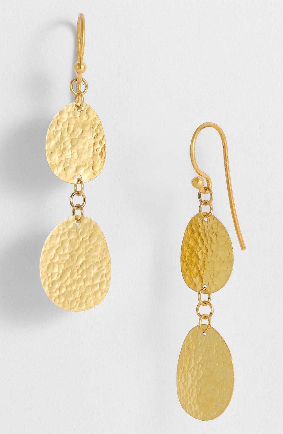 Alternate Image 1 Selected - Gurhan 'Contour' Double Drop Gold Earrings