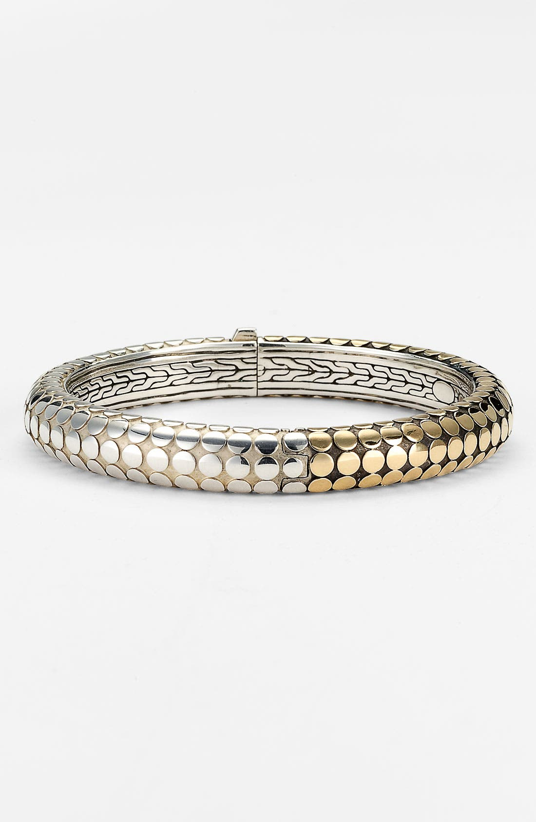Alternate Image 1 Selected - John Hardy 'Dot Gold & Silver' Hinged Bangle