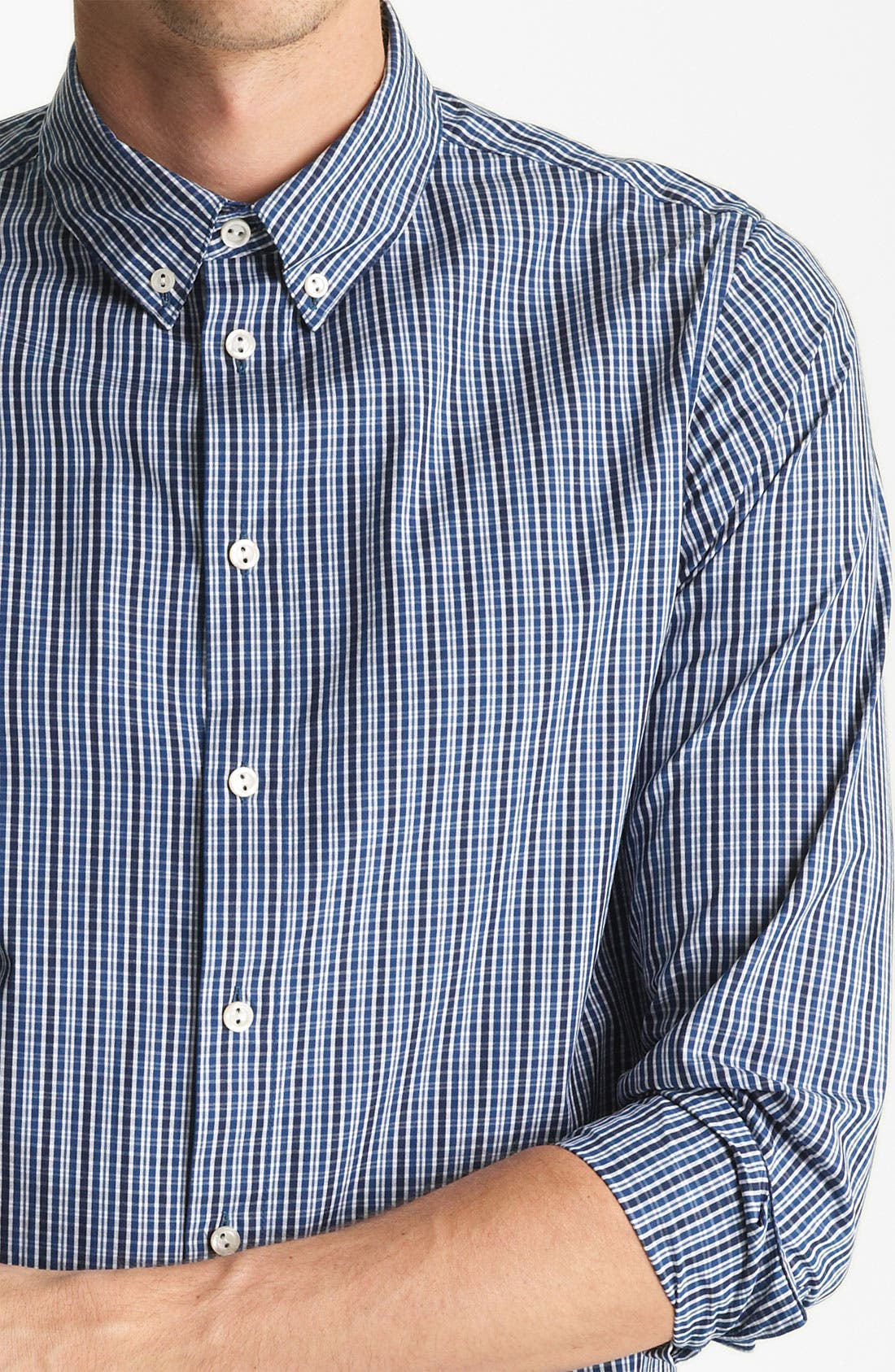 Alternate Image 3  - A.P.C. Plaid Cotton Shirt