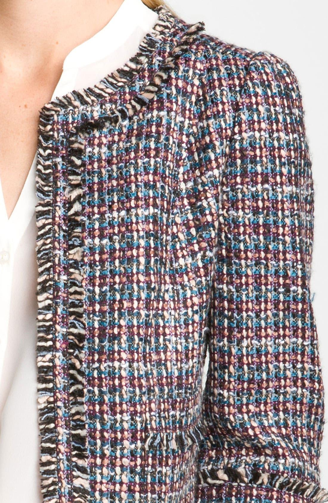 Alternate Image 3  - Frenchi® 'Vanity' Tweed Jacket (Juniors)
