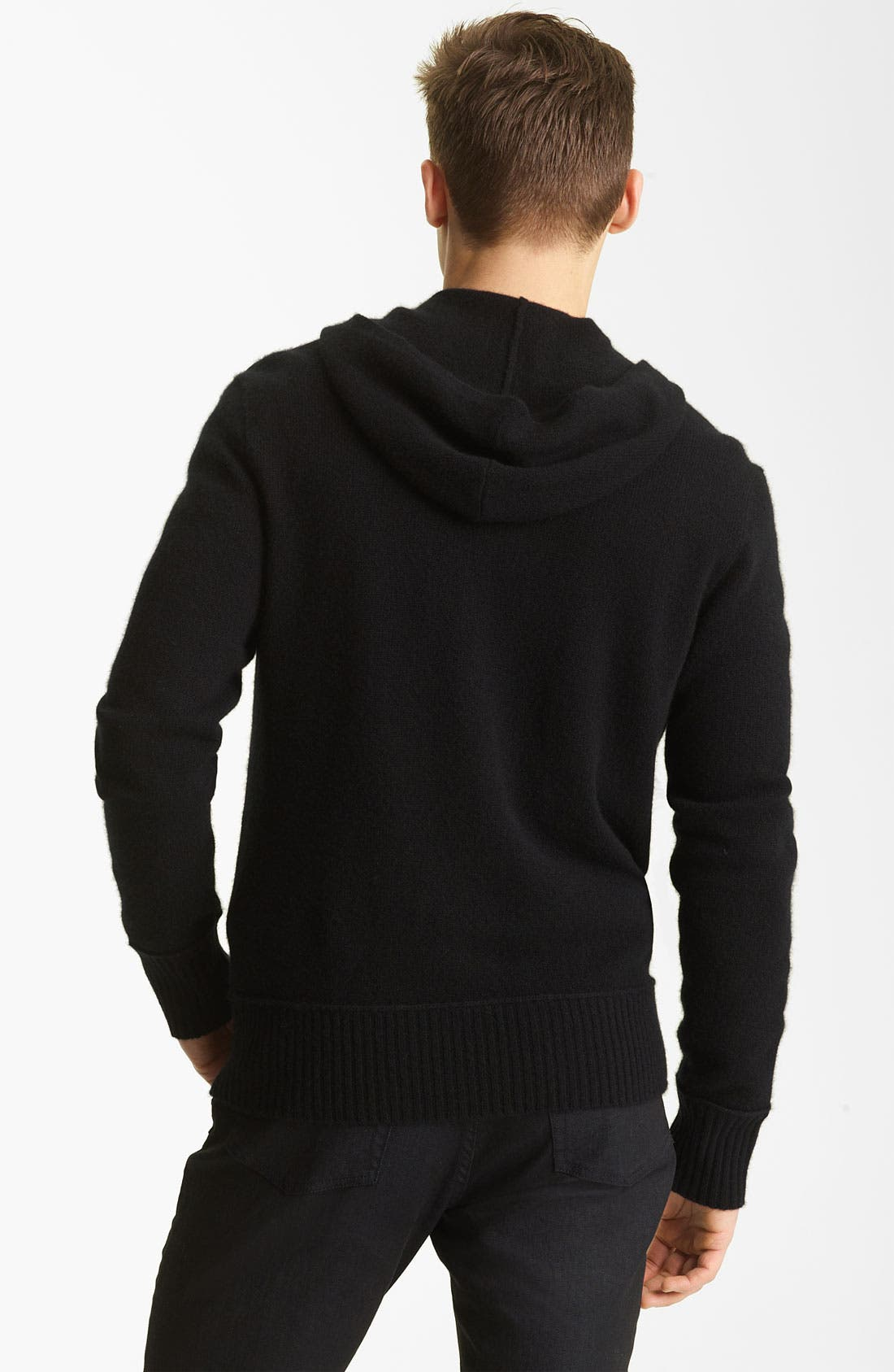 Alternate Image 2  - John Varvatos Collection Hooded Zip Cashmere Sweater