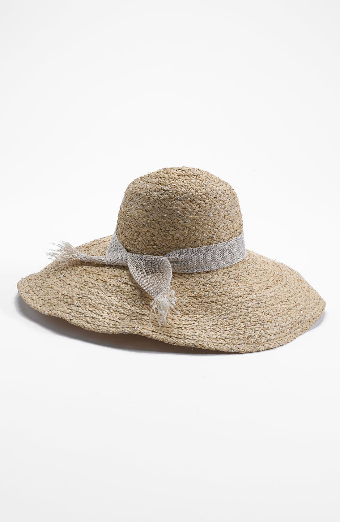 Main Image - Hat Attack Metallic Raffia Sun Hat