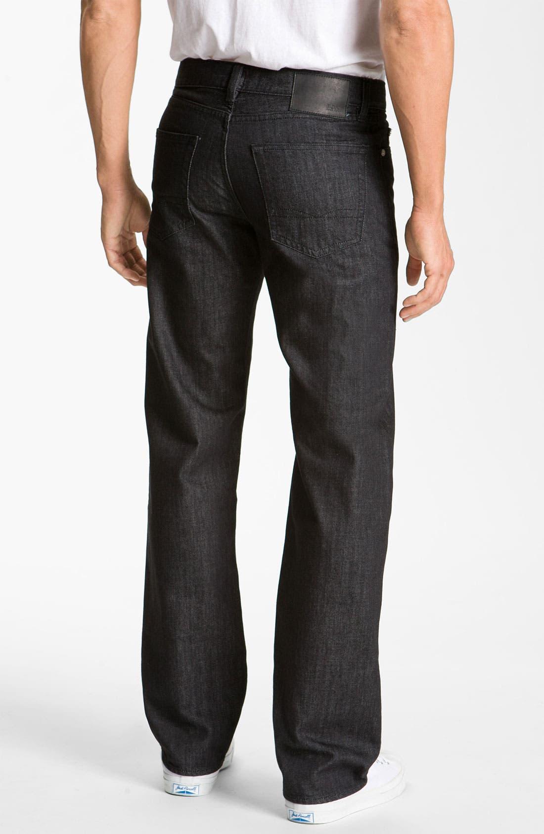 Alternate Image 2  - BOSS Black 'Texas' Bootcut Jeans (Black)