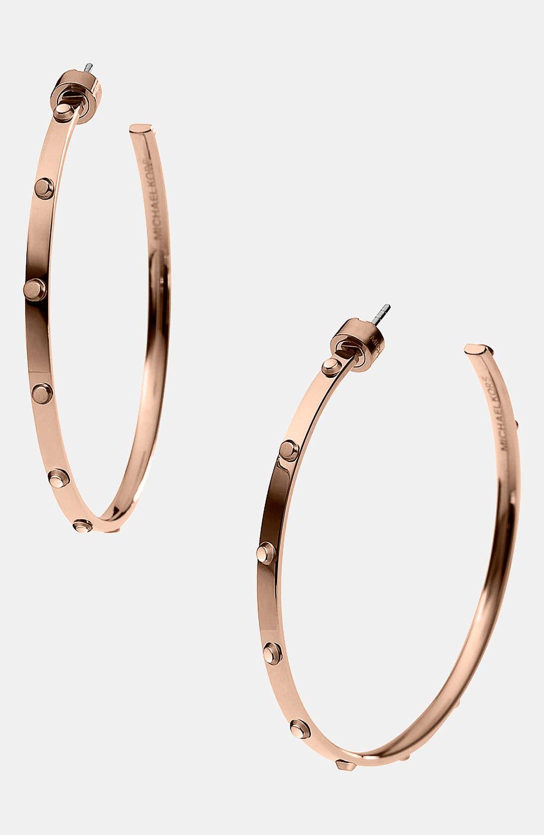 Alternate Image 1 Selected - Michael Kors 'Heritage - Astor' Large Screw Hoop Earrings
