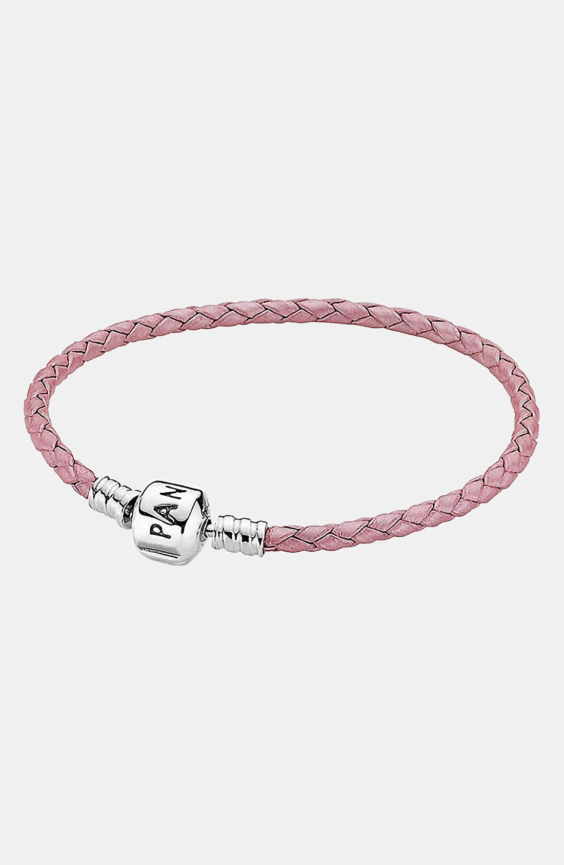 Main Image - PANDORA Iridescent Woven Leather Charm Bracelet