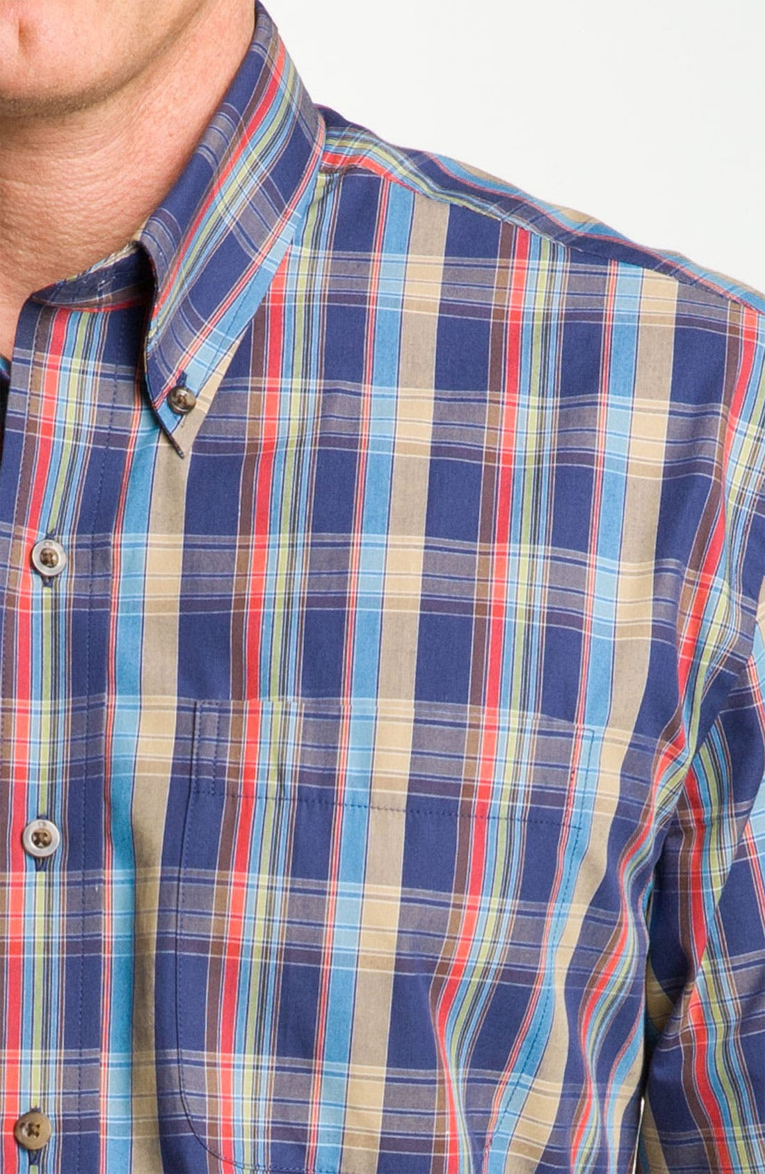 Alternate Image 3  - Cutter & Buck 'Palouse' Plaid Sport Shirt (Big & Tall)