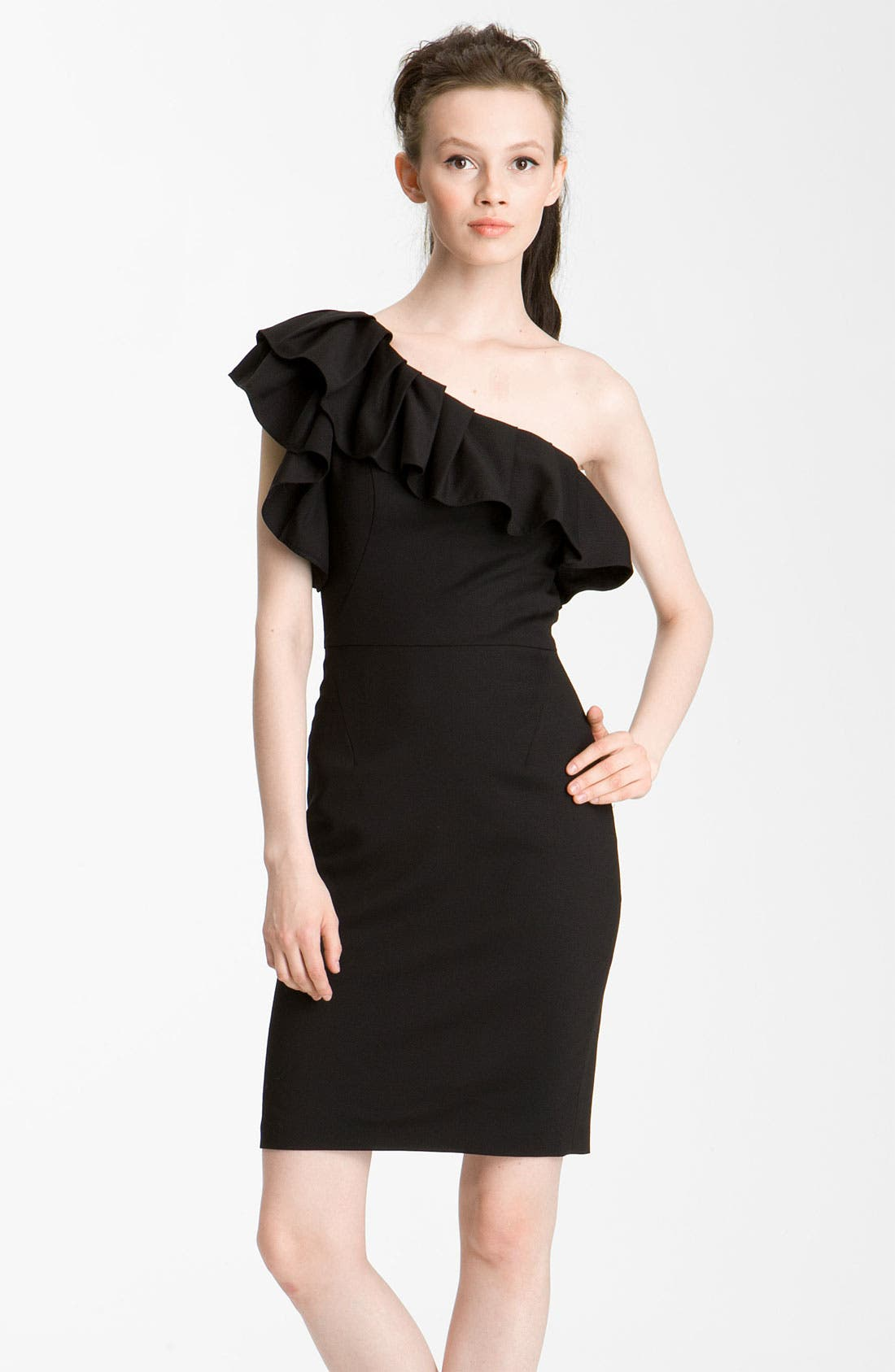 Alternate Image 1 Selected - Rachel Zoe 'Isabelle II' One Shoulder Ruffle Dress