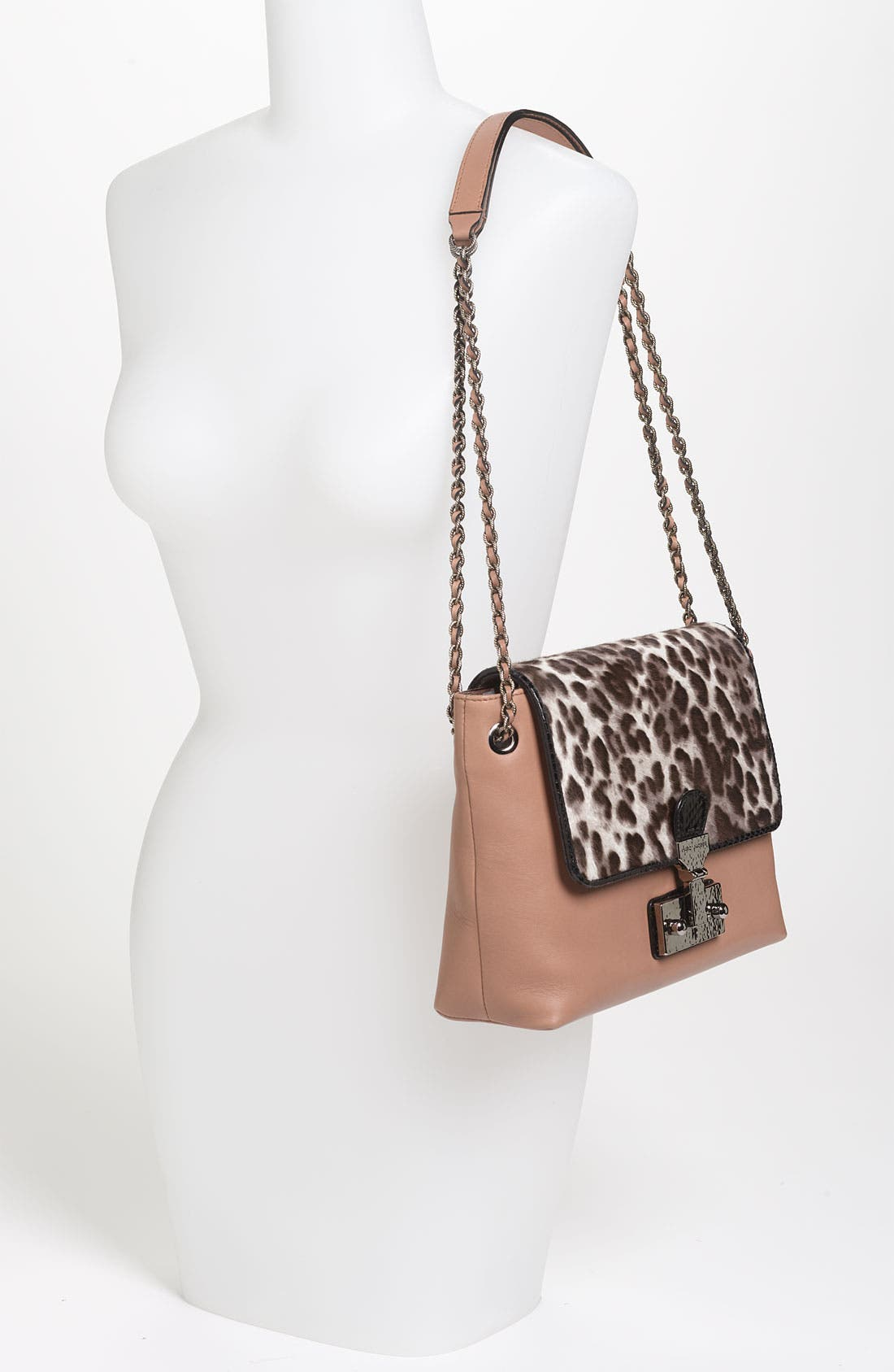 Alternate Image 2  - MARC JACOBS 'Safari - Large Single' Leather & Calf Hair Shoulder Bag