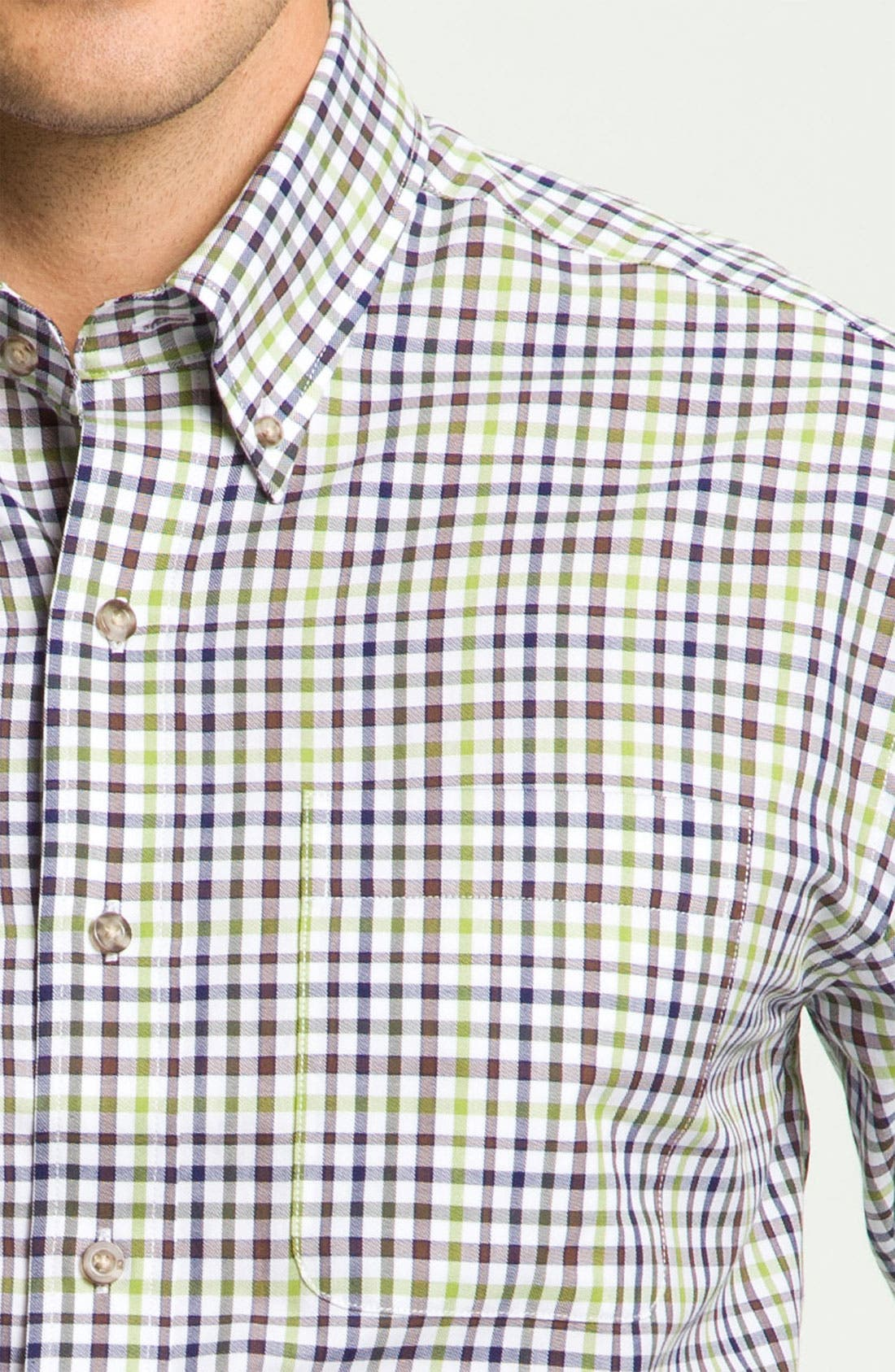 Alternate Image 3  - Cutter & Buck 'Cypress' Plaid Sport Shirt (Big & Tall)