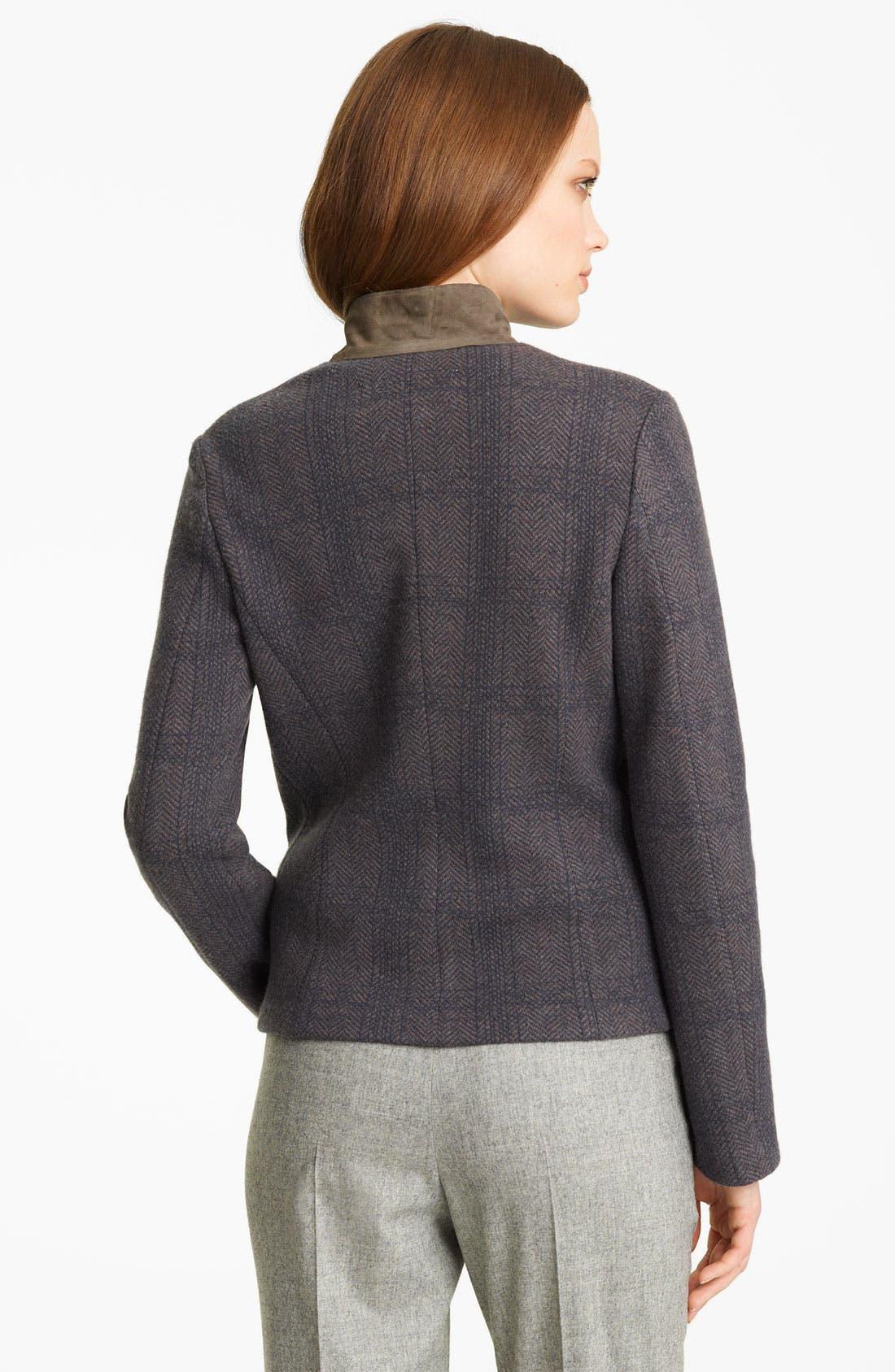 Alternate Image 2  - Fabiana Filippi Suede Collar Plaid Jacket