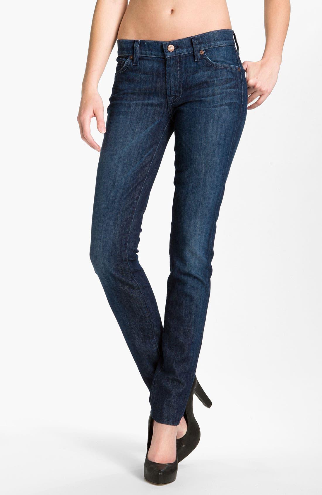 Main Image - 7 For All Mankind® 'Roxanne' Skinny Jeans (Summer Dusk)