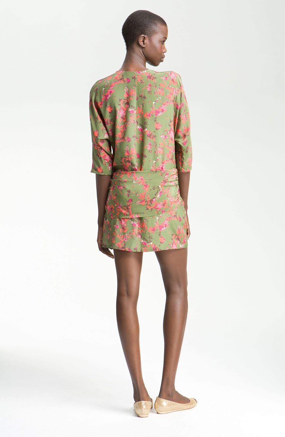 Alternate Image 2  - Thakoon Addition Hip Detail Print Silk Dress