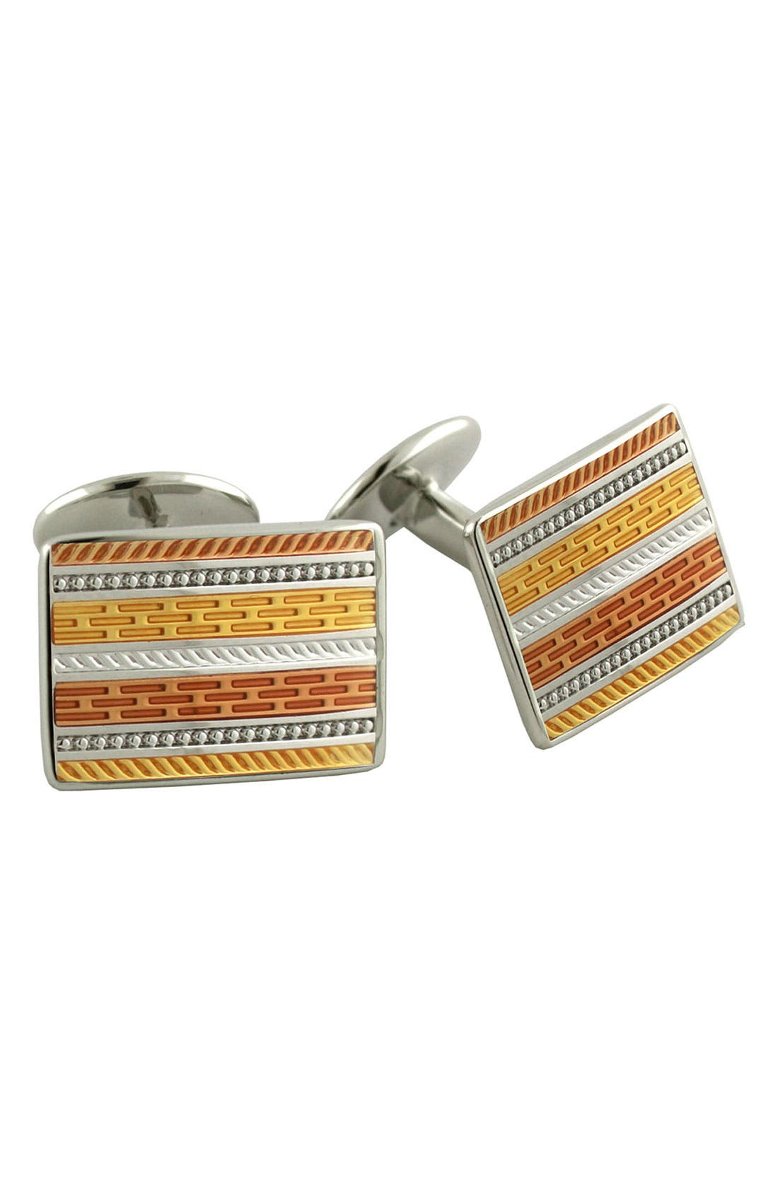 Main Image - David Donahue Rectangular Sterling Silver Cuff Links