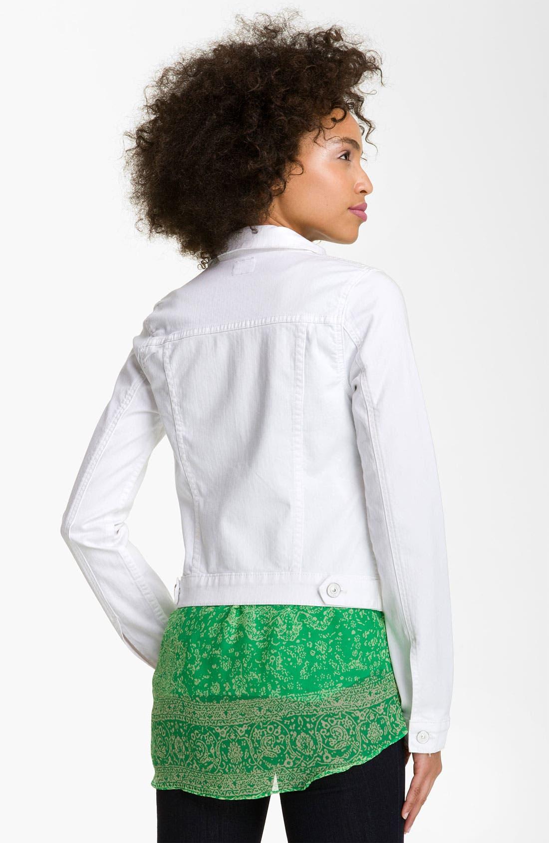 Alternate Image 2  - Hudson Jeans Denim Jacket (White)