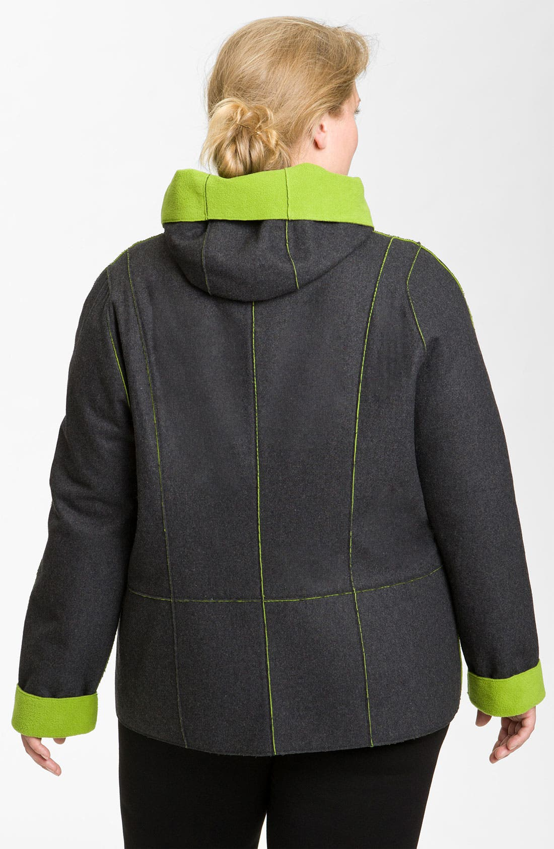Alternate Image 3  - Kristen Blake Reversible Bonded Fleece Jacket (Plus)