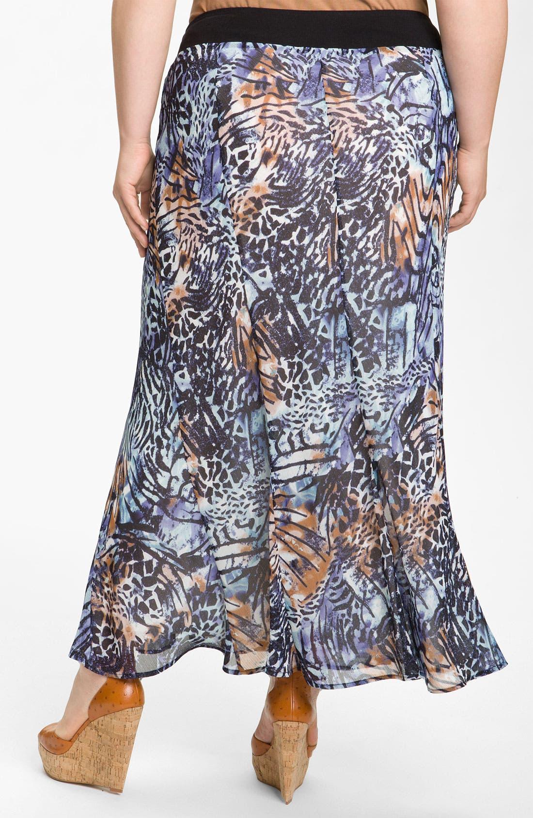 Alternate Image 2  - Nic + Zoe 'Pattern Play' Long Skirt (Plus)