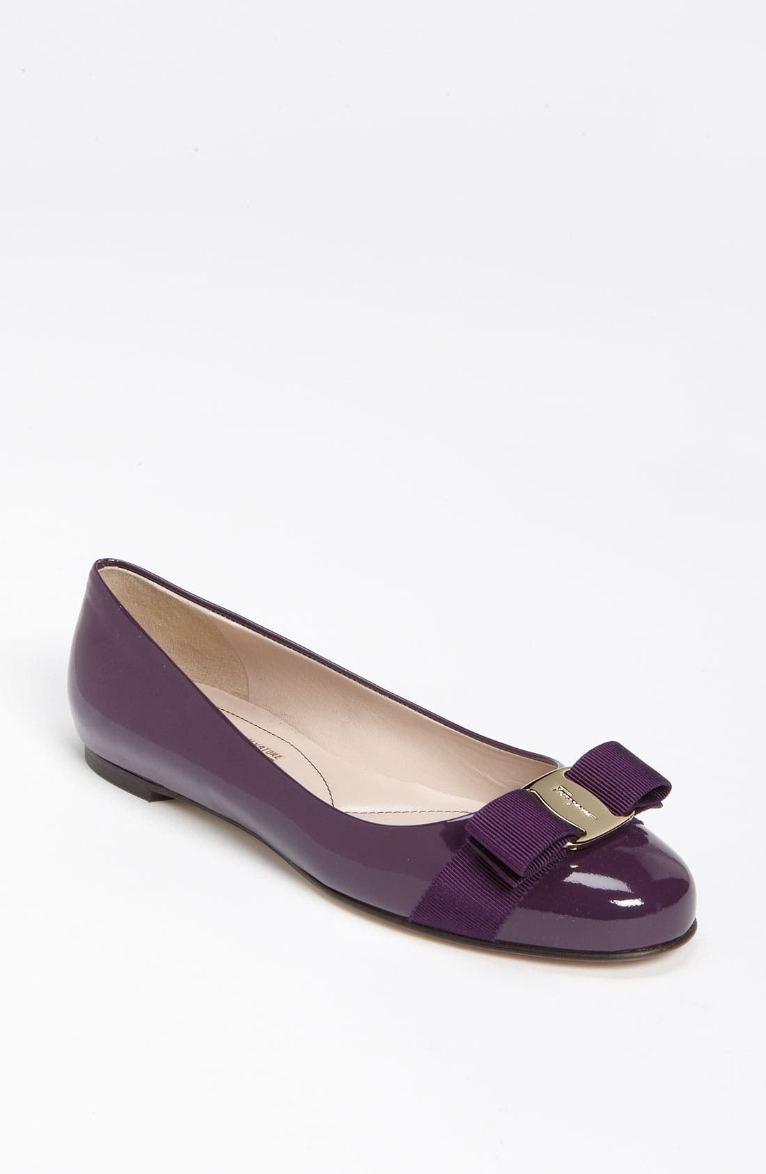 Alternate Image 1 Selected - Salvatore Ferragamo 'Varina' Bow Flat