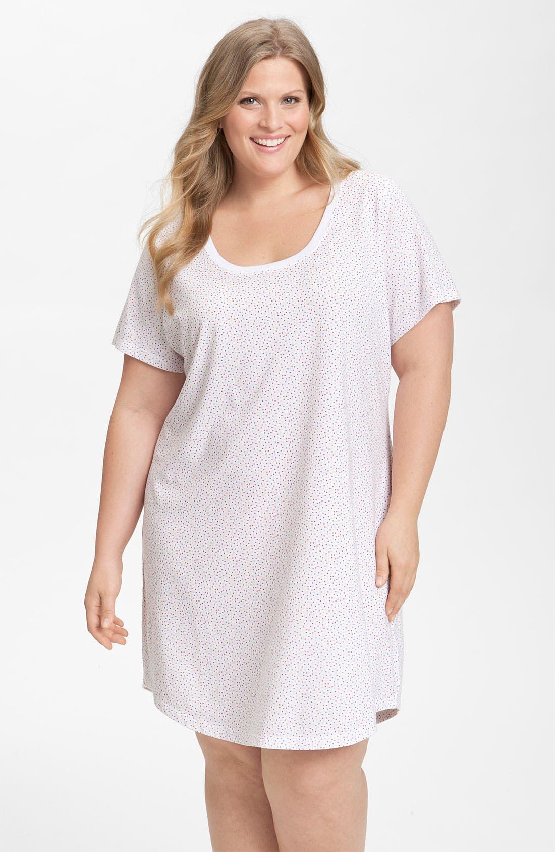 Alternate Image 1 Selected - Nordstrom Short Sleeve Sleep Shirt (Plus)