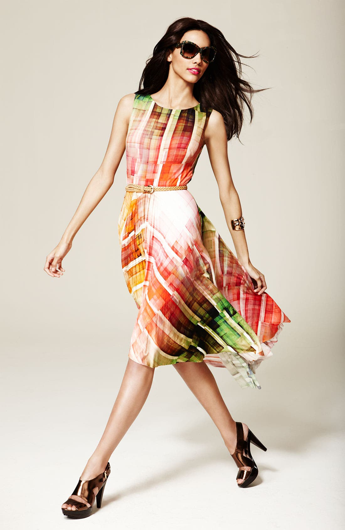 Alternate Image 5  - Suzi Chin for Maggy Boutique Print High/Low Hemline Dress