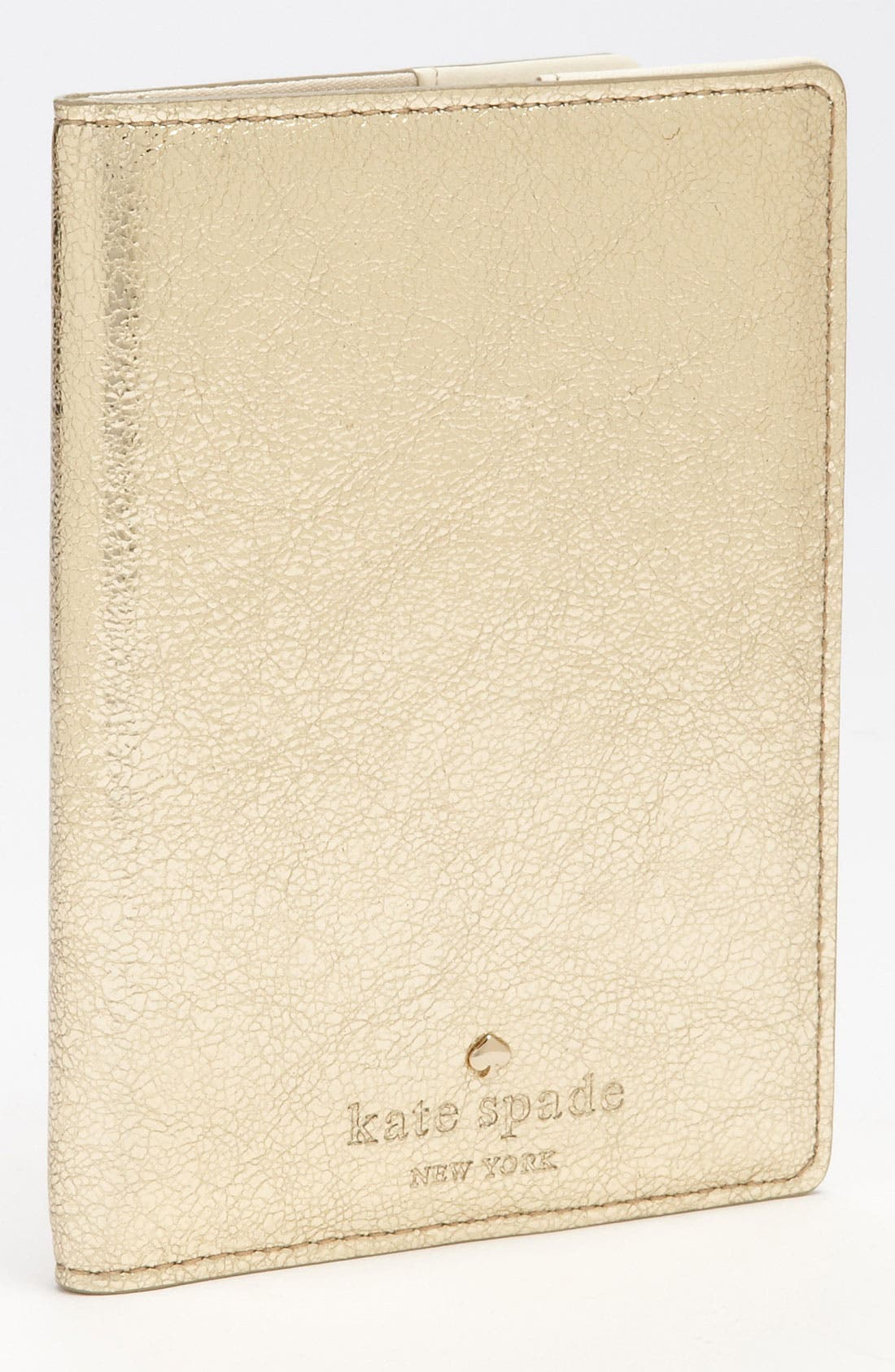 Main Image - kate spade new york 'harrison street' metallic passport case