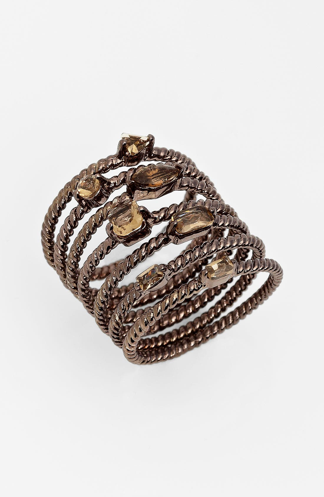 Main Image - Ariella Collection Stack Rings (Set of 7)