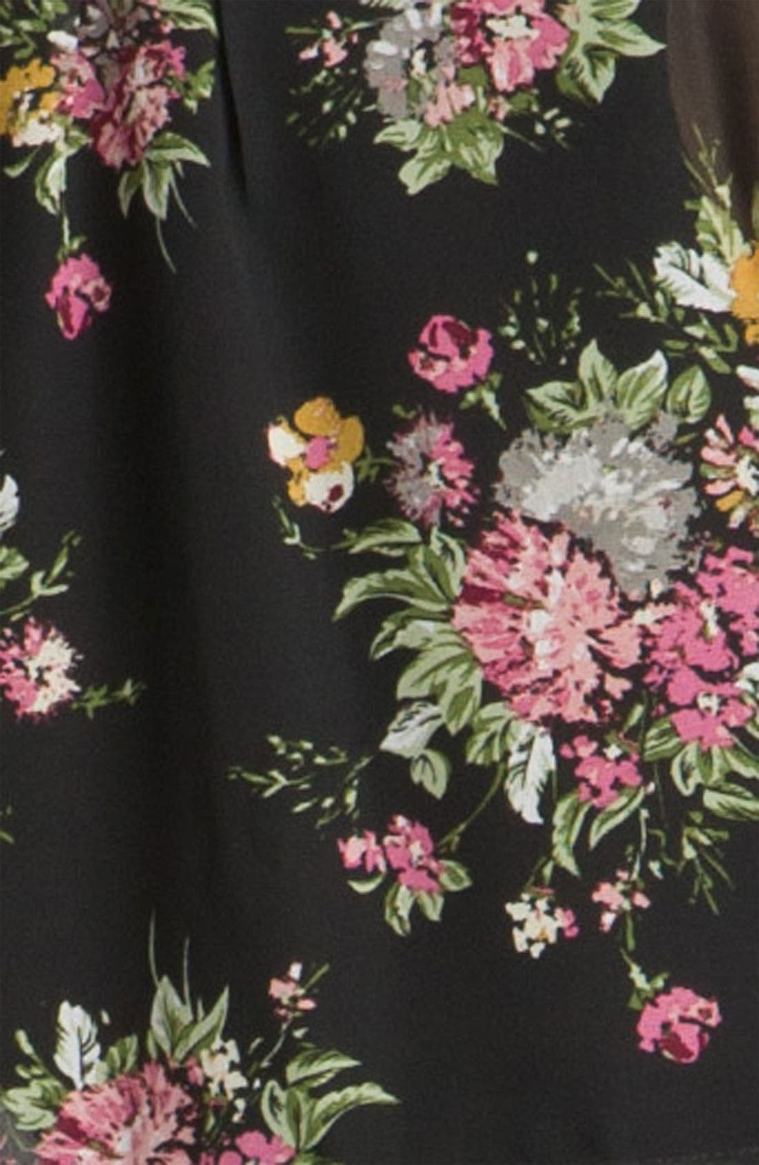 Alternate Image 3  - Line & Dot Oversized Vintage Floral Shirt