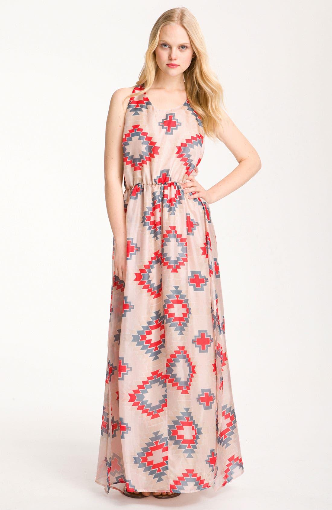 Main Image - Myne Print Silk Maxi Dress