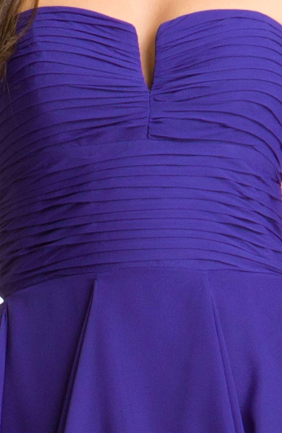 Alternate Image 3  - Hailey by Adrianna Papell Notched Bodice Chiffon Dress
