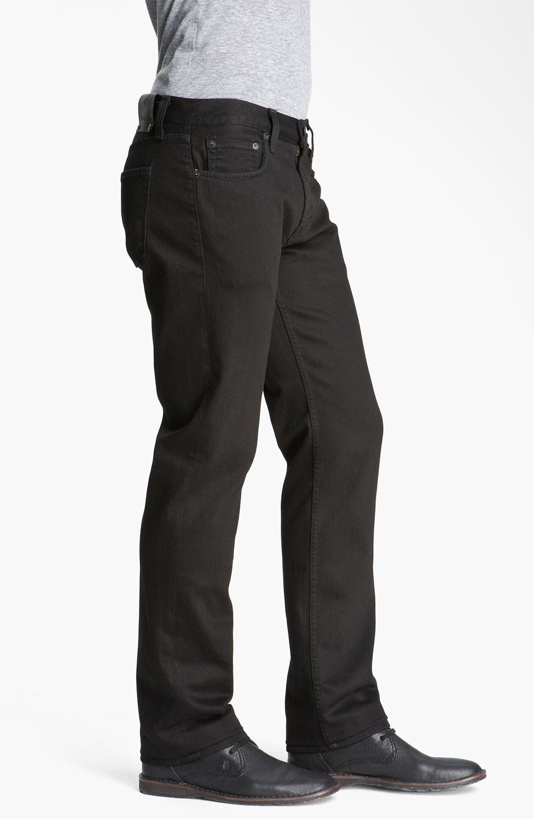 Alternate Image 3  - J Brand 'Kane' Slim Straight Leg Jeans (Phantom Black)