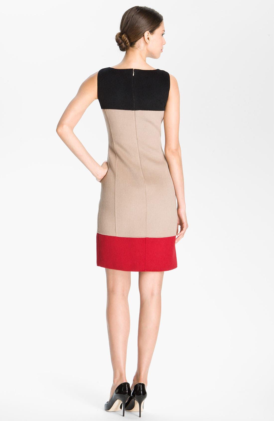 Alternate Image 2  - St. John Collection Colorblock Sheath Dress