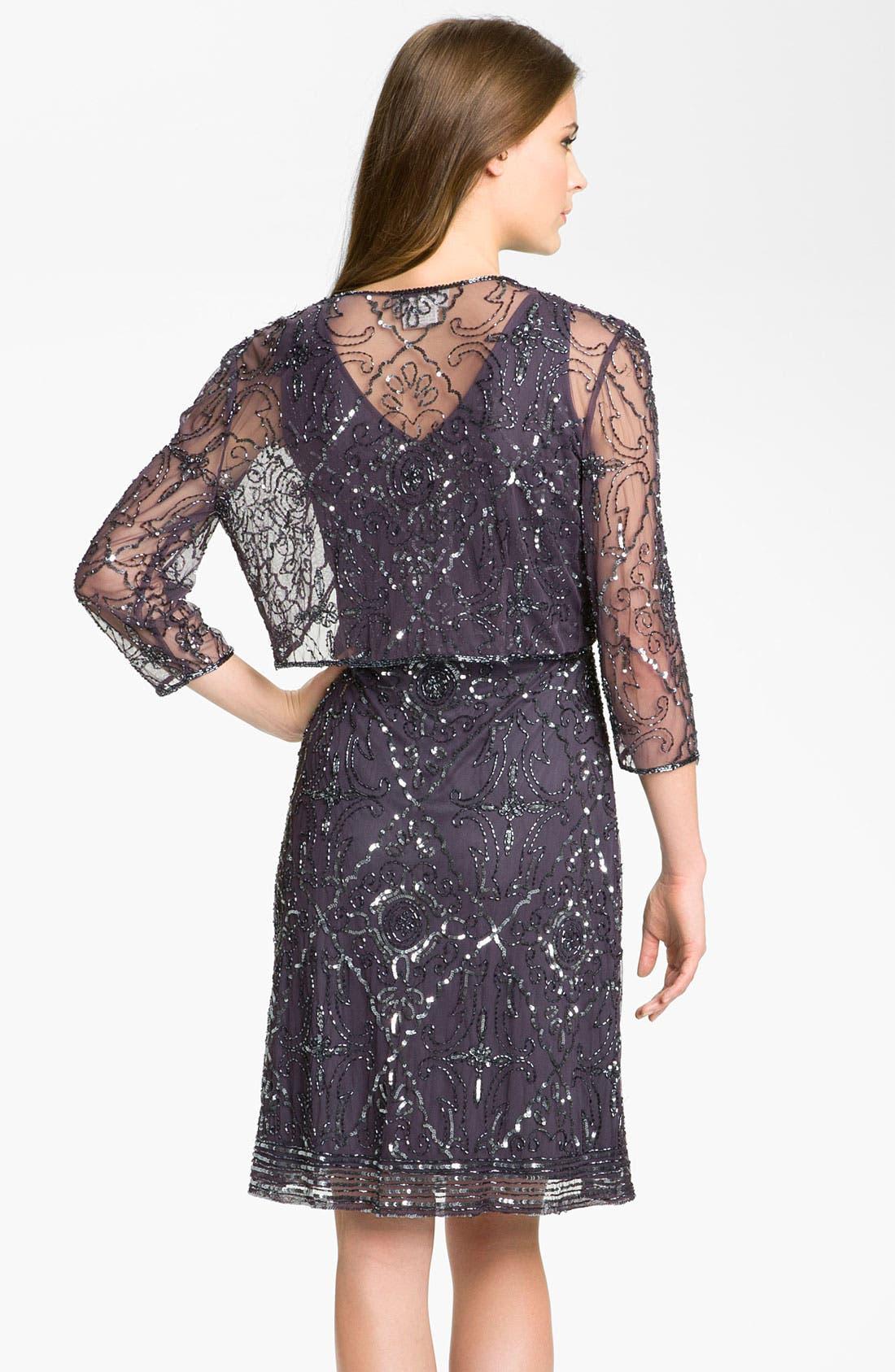 Alternate Image 2  - Patra Beaded Mesh Dress & Bolero