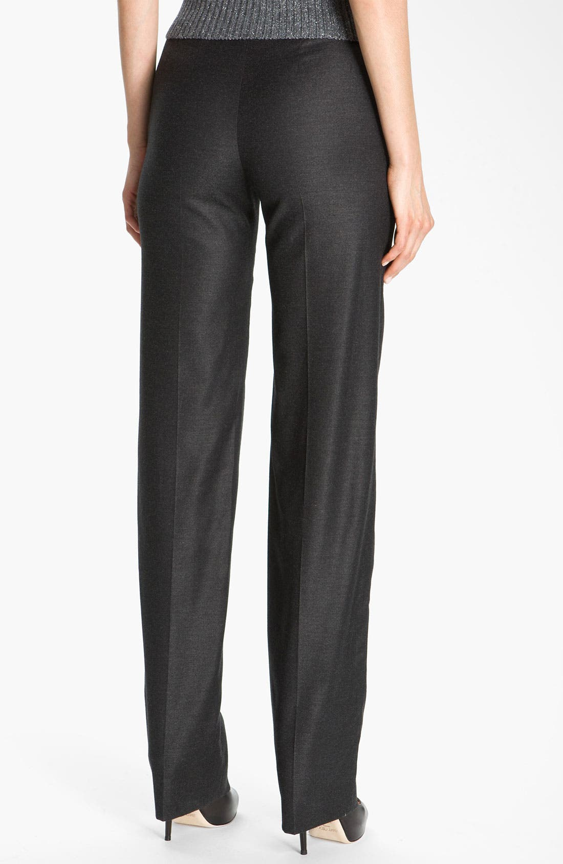Alternate Image 3  - St. John Collection Straight Leg Stretch Flannel Pants