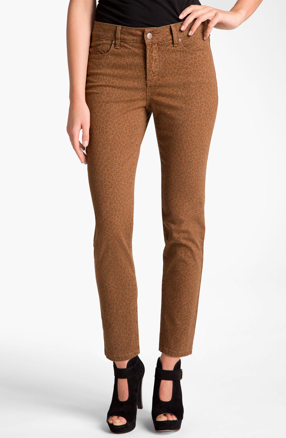 Alternate Image 2  - NYDJ 'Alisha' Leopard Print Twill Ankle Jeans