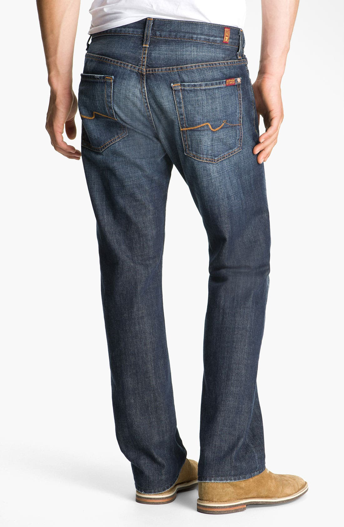 Alternate Image 2  - 7 For All Mankind® 'Austyn' Relaxed Fit Jeans (New York Dark)