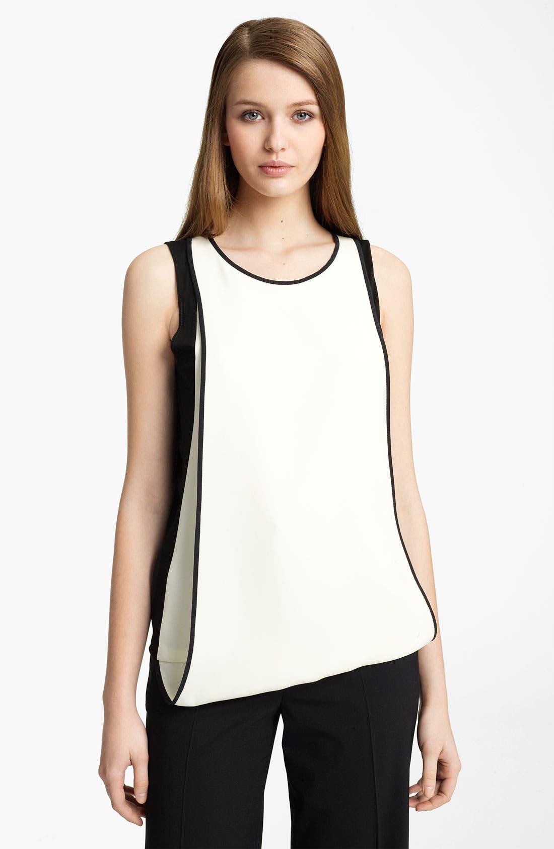Main Image - Reed Krakoff Layered Silk Shell