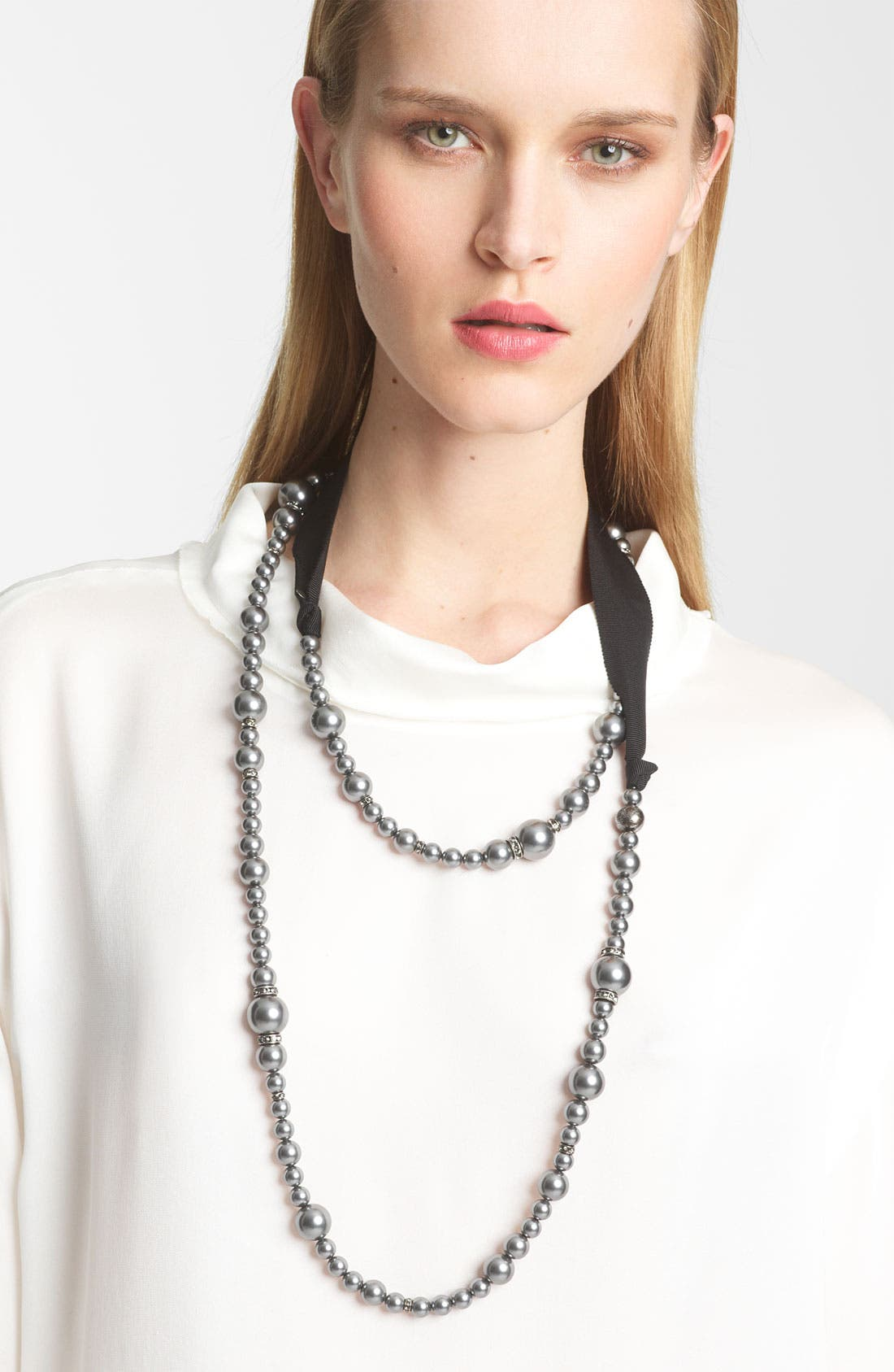 Main Image - Lanvin Double Strand Glass Pearl Necklace