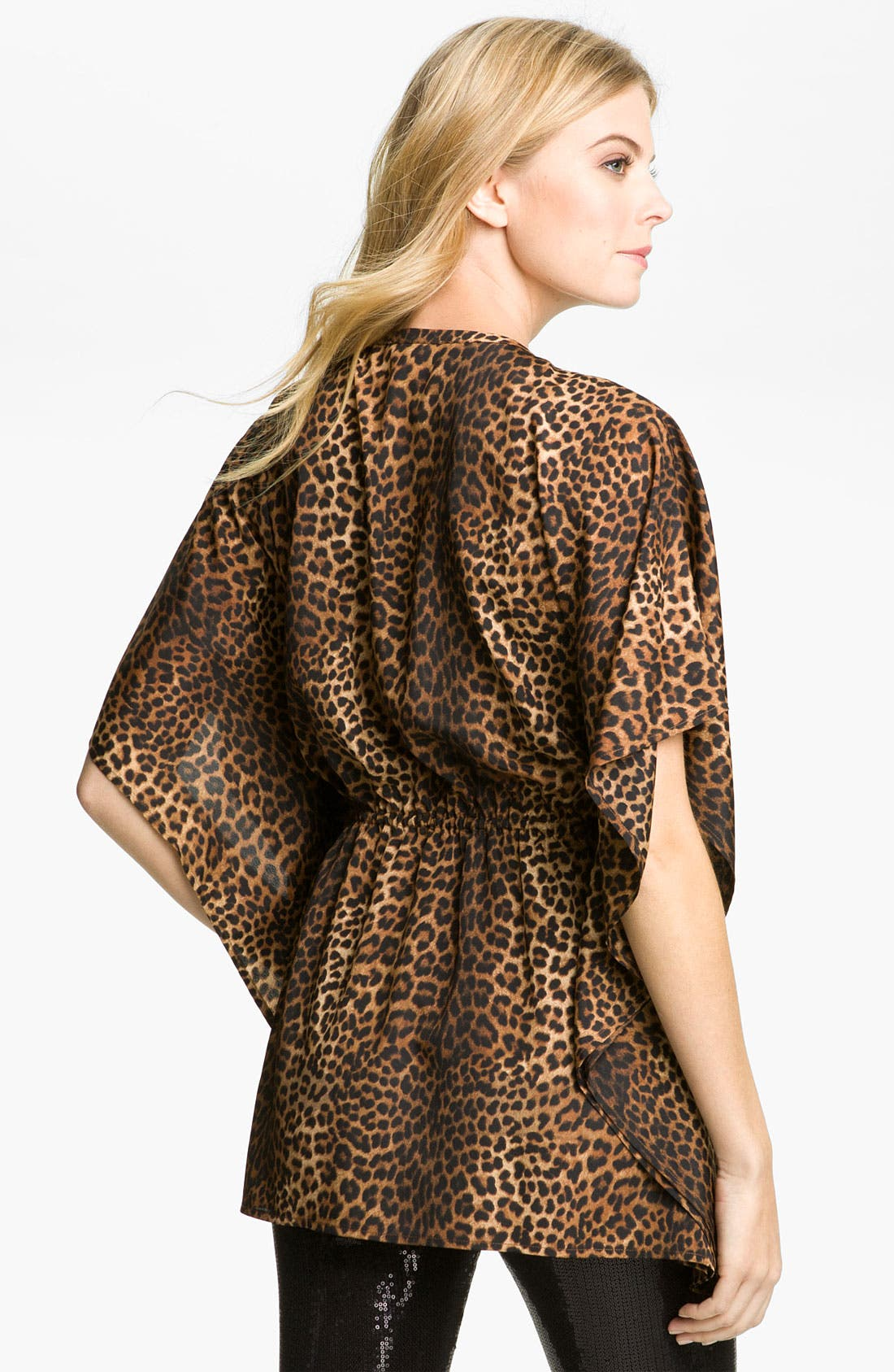 Alternate Image 2  - MICHAEL Michael Kors Chain Lace Flutter Sleeve Tunic