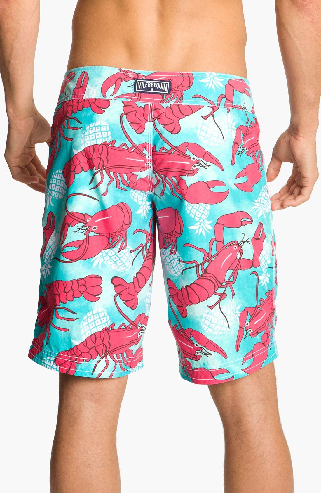 Alternate Image 2  - Vilebrequin 'Ocean Surfer' Lobster Print Board Shorts