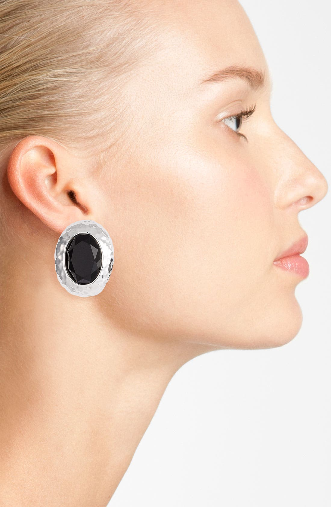 Alternate Image 2  - Simon Sebbag Oval Stone Clip Earrings