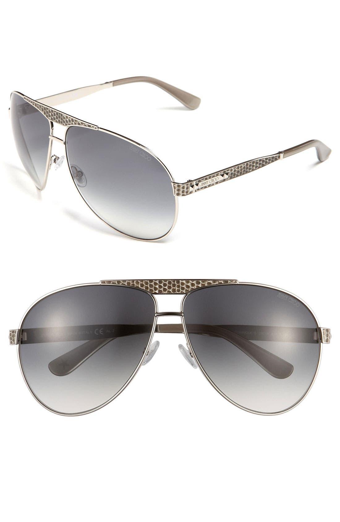 Alternate Image 1 Selected - Jimmy Choo 'Dominique' Aviator Sunglasses