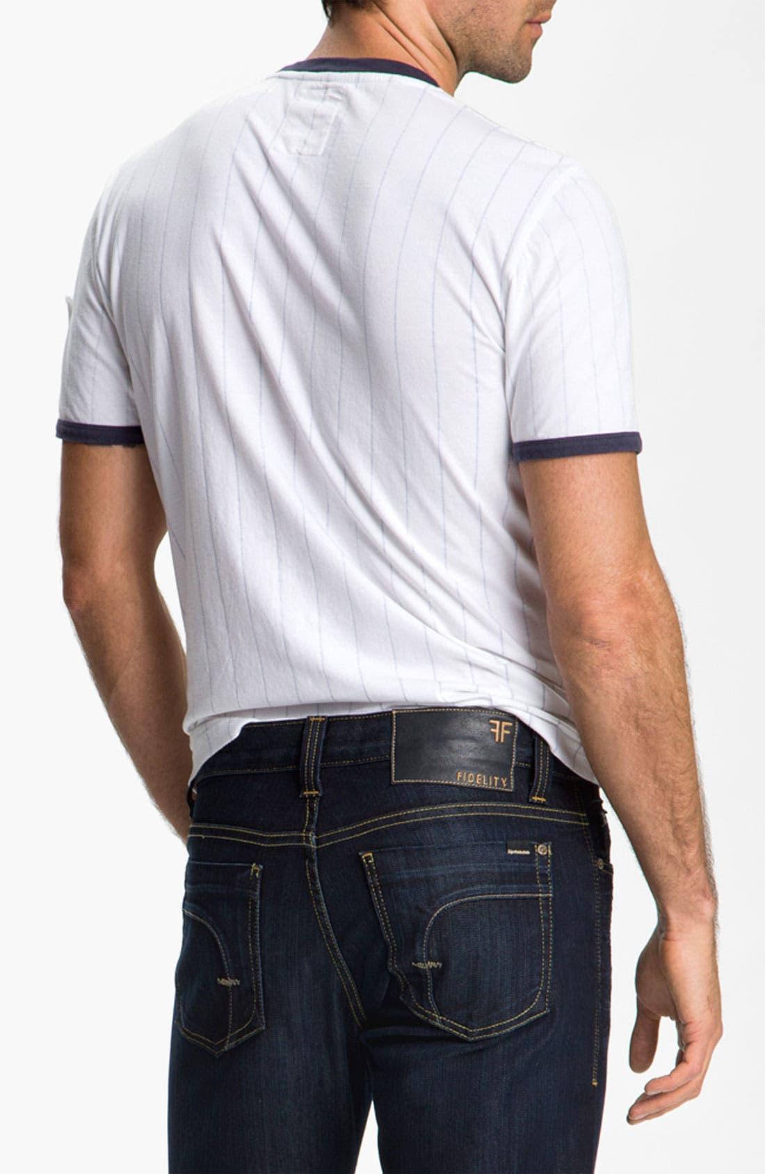 Alternate Image 2  - Red Jacket 'New York Yankees' Trim Fit Ringer T-Shirt (Men)