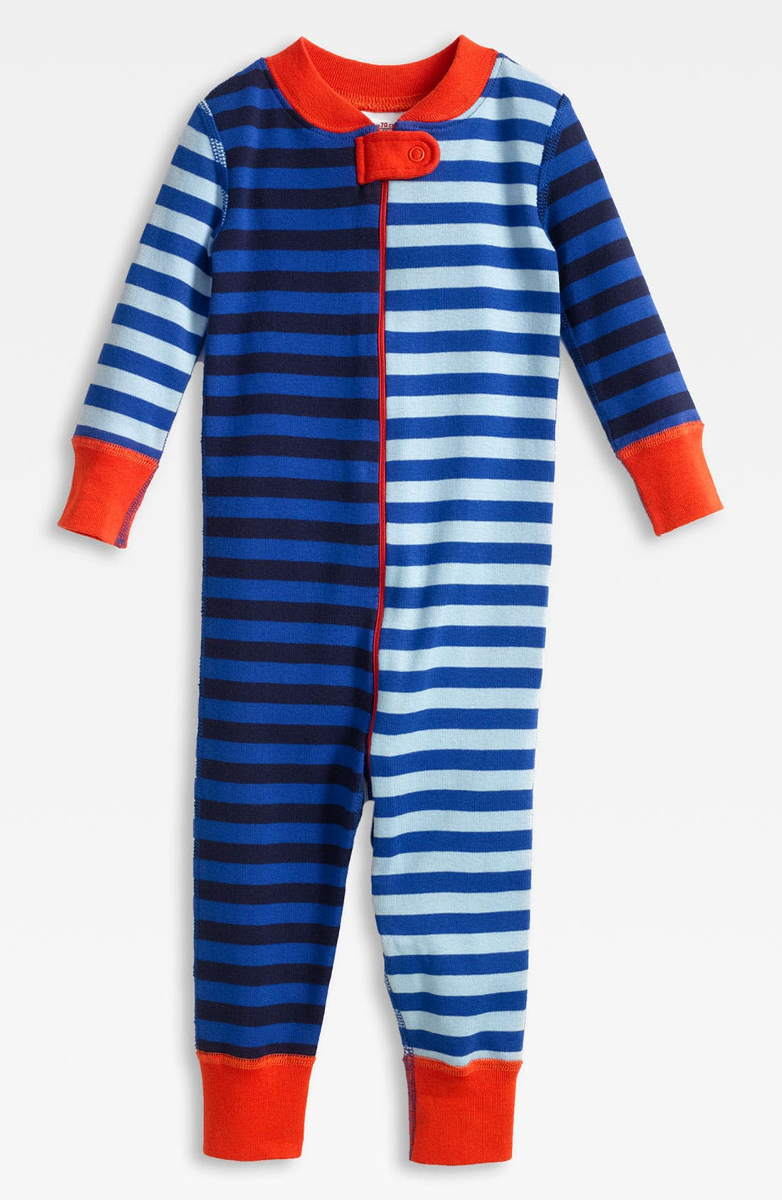 Alternate Image 1 Selected - Hanna Andersson Fitted Romper (Infant)